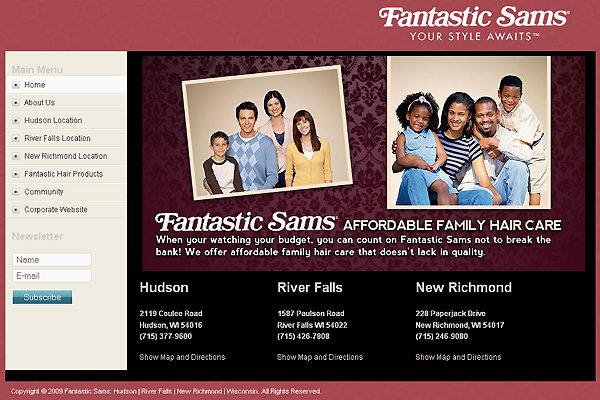 Fantastic Sams Website