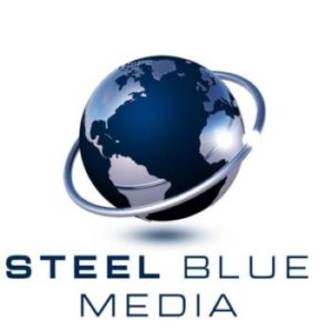 Blue and Steel Colored logo for Steel Blue Media