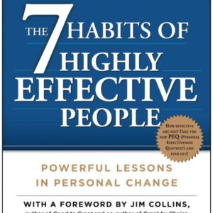 The 7 Habits of Highly Effective People, cover half blue with white writing